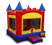 Basic Red, Yellow and blue Bounce Castle