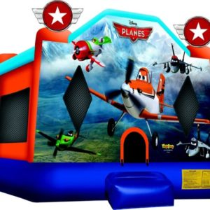 Planes Cartoon Bounce Castle