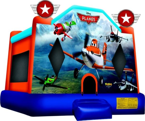 Planes Cartoon Bounce Castle